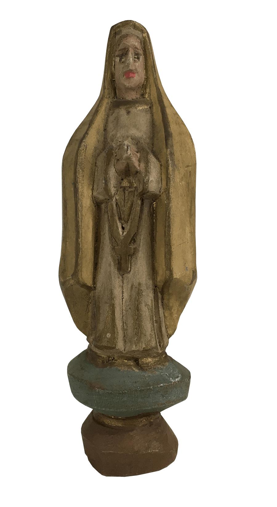 Santa Antiga Em Madeira Arte Sacra