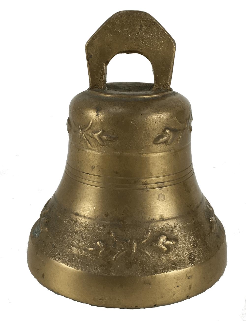 Sino Em Bronze Antigo 12cm Altura