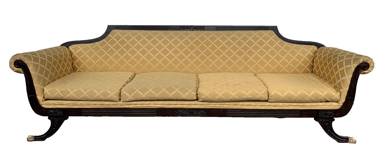 Sofa Antigo Ingles Jacaranda Pata Leao Bronze