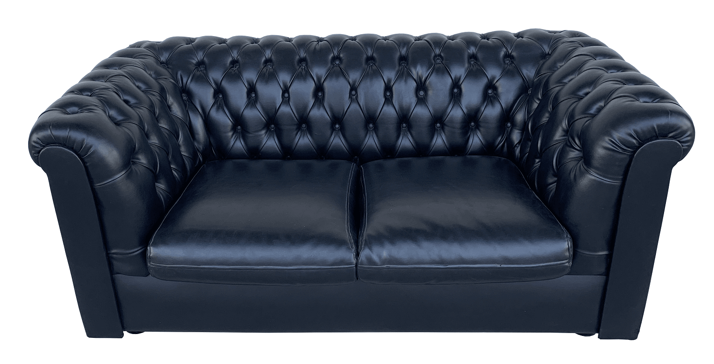 Sofa Chesterfield Usado Capitone Preto 2 Lugares