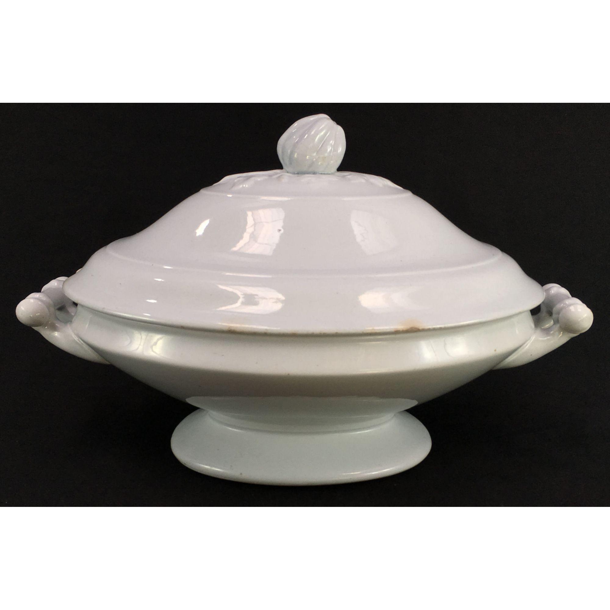Sopeira Branca Antiga Porcelana Inglesa J&G Meakin