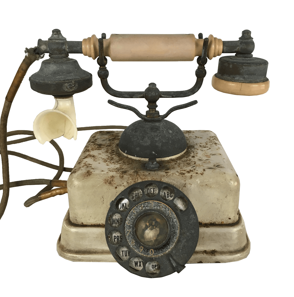 Telefone Antigo Metal E Baquelite Discador Cena Galante