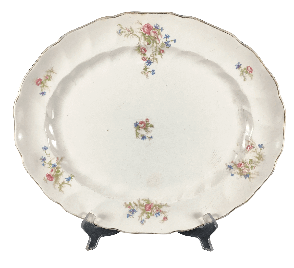 Travessa Porcelana Antiga Inglesa Johnson Bros 35x29cm