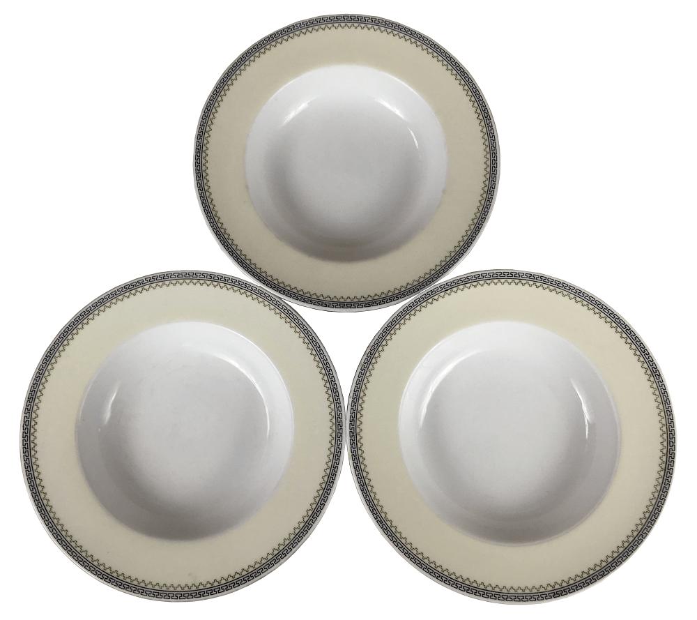 Tres Pratos Fundos Porcelana Antiga Noritake
