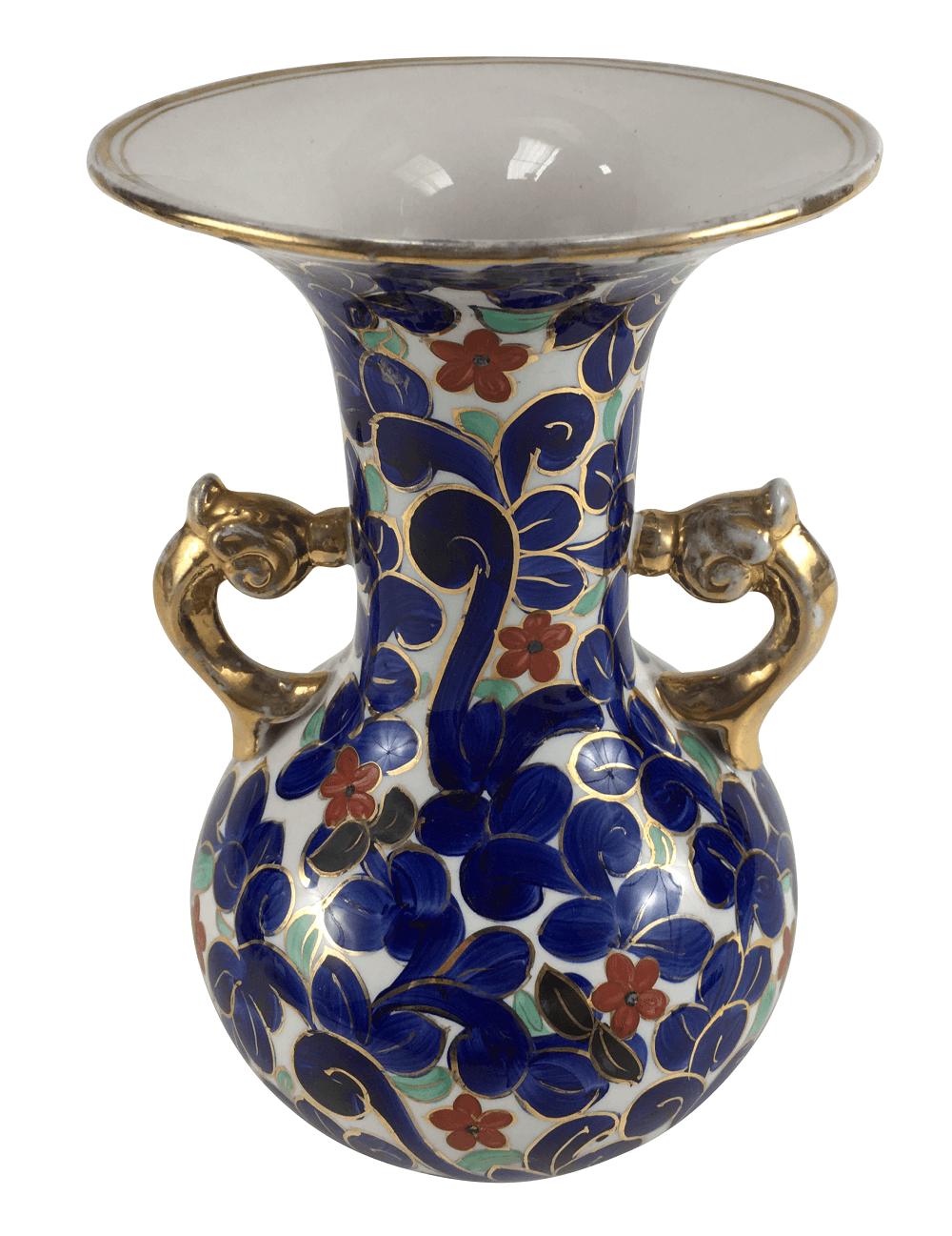 Vaso Antigo Em Porcelana Zappi 22cm Altura