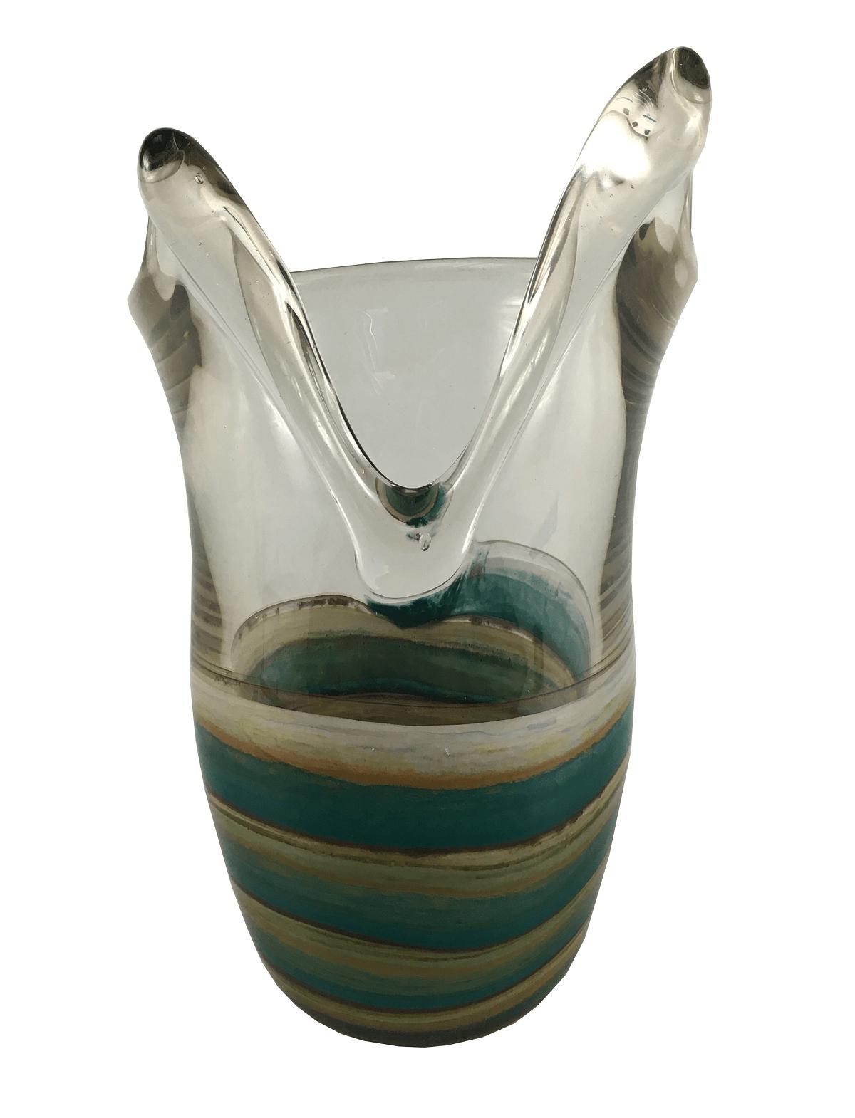 Vaso De Murano Colorido Molinari