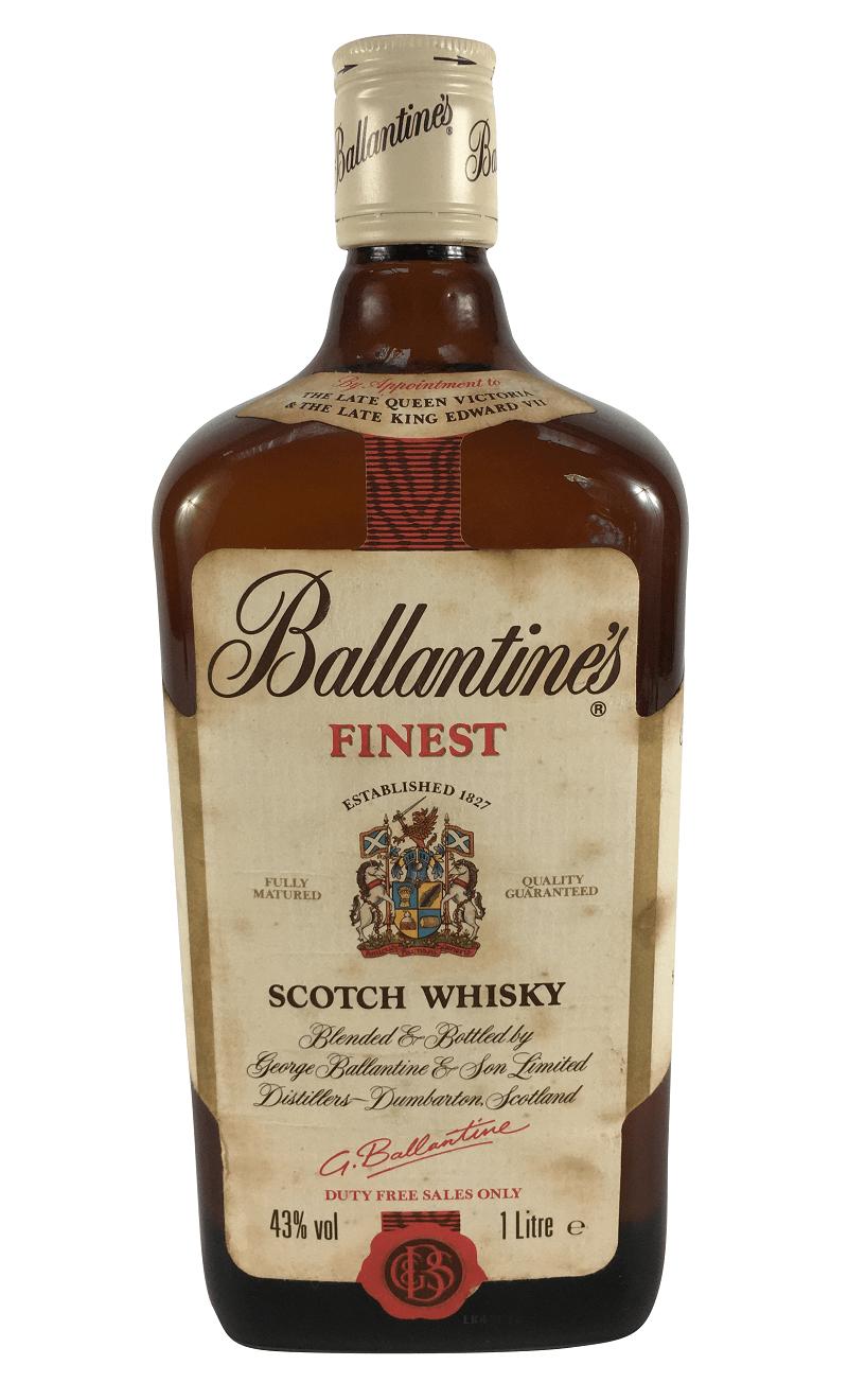 Whisky Antigo Ballantines Finest Lacrado