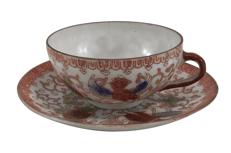 Xicara De Cafe Antiga Porcelana Japonesa Fenix