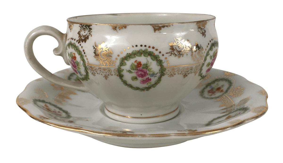Xicara De Cha Porcelana Antiga Polonesa Koenigszelt Florida