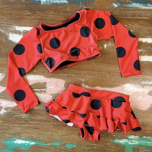 Biquini Infantil Cropped da Ladybug