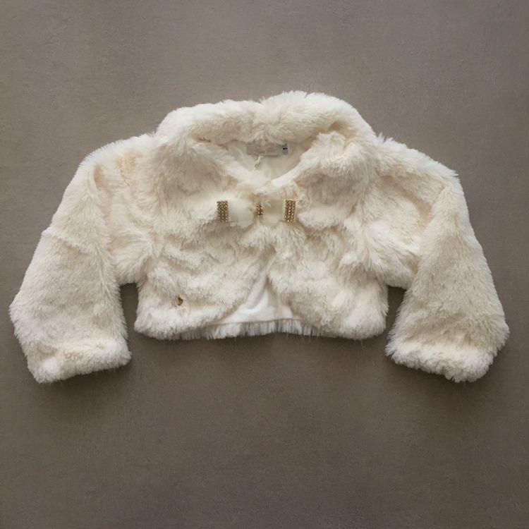Bolero Infantil de Pêlo Off White