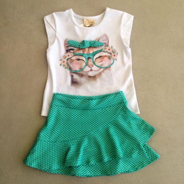 Conjunto Le Petit Kukiê Lovely Cat