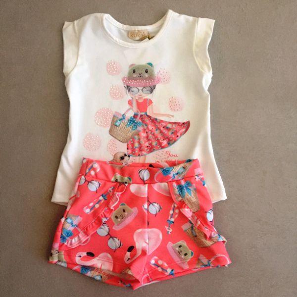 Conjunto Le Petit Kukiê Lovely Girl