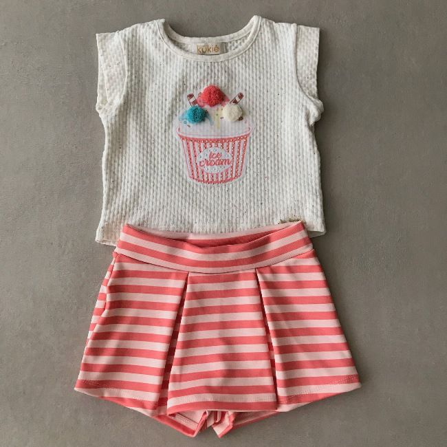 Conjunto Le Petit Kukiê Lovely Ice Cream