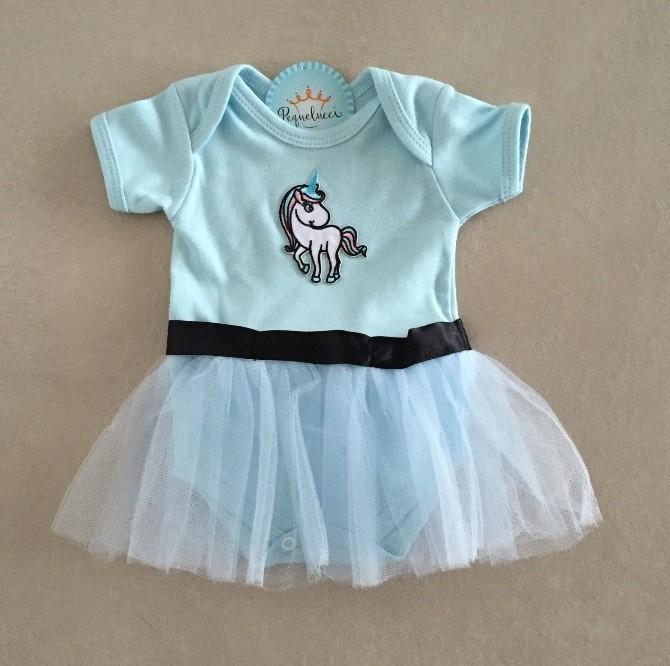 Fantasia Bebê Unicórnio Azul