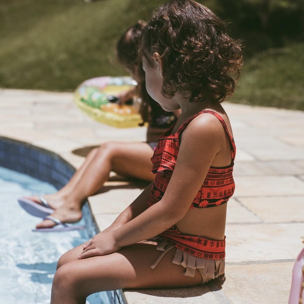 Maiô Infantil Princesa da Polinésia