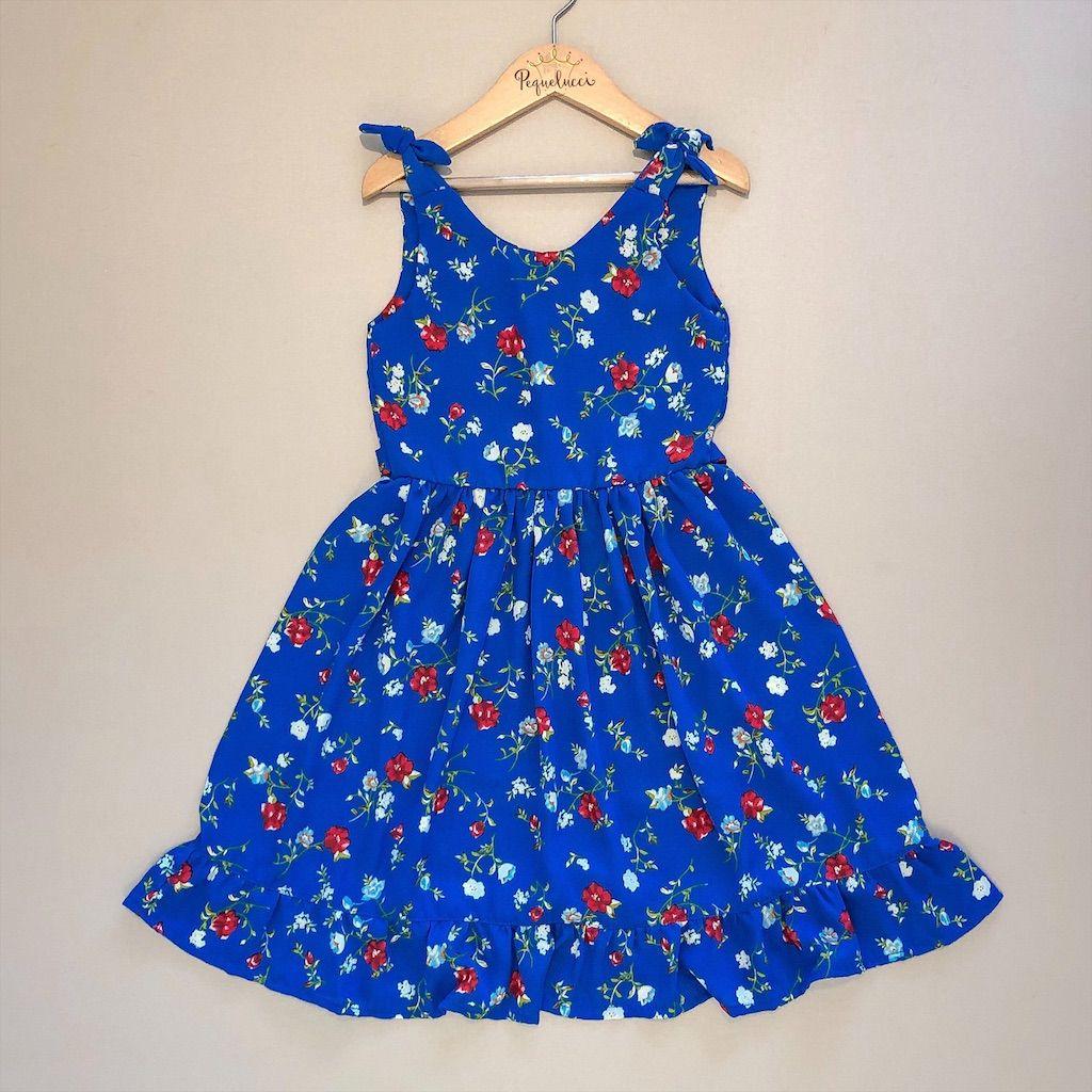 Vestido Azul Floral
