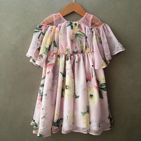 Vestido Conceito Petit Cherie Floral Rosa