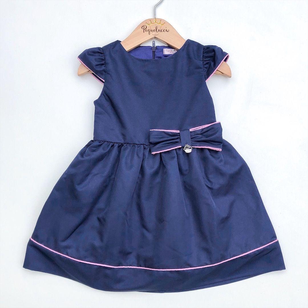 Vestido De Festa Azul Acetinado