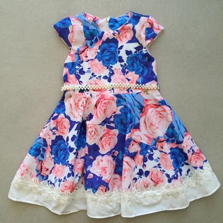 Vestido De Festa Infantil Ninali De Cetim Floral