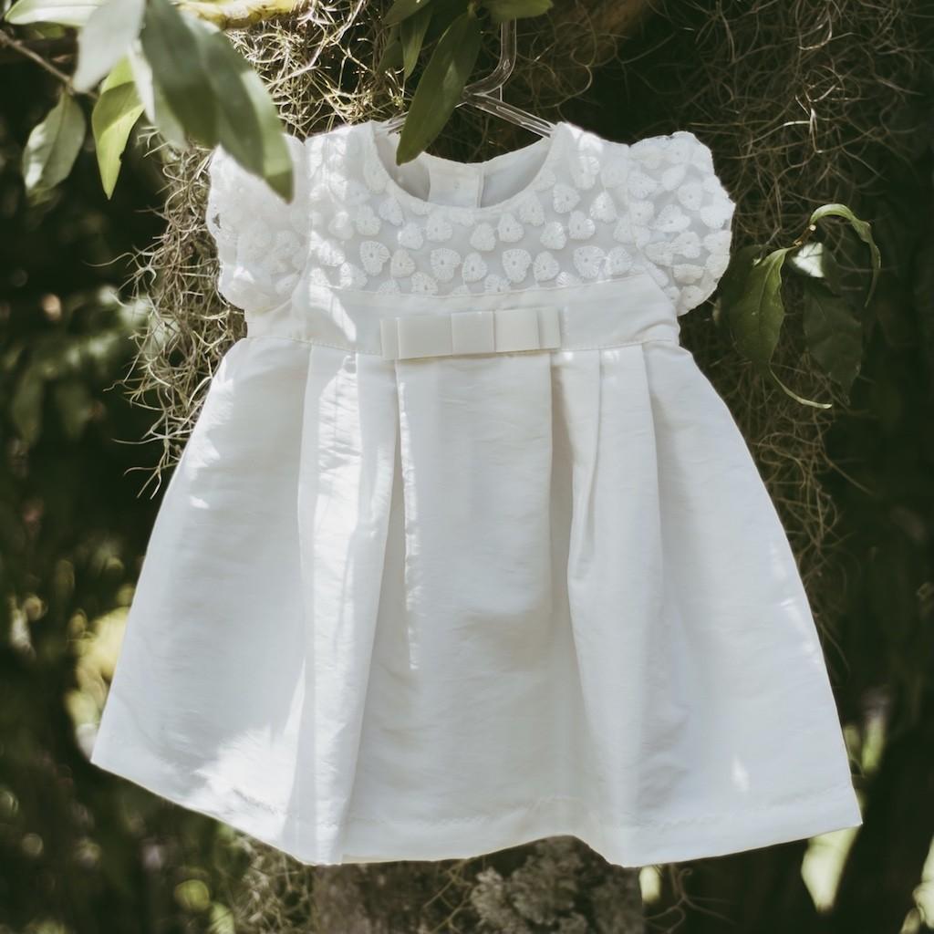 Vestido De Festa Infantil Póssum Em Tafetá Offwhite