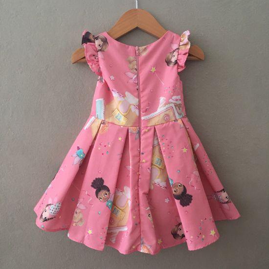 Vestido de Festa Mon Sucré Fadinhas Rosa