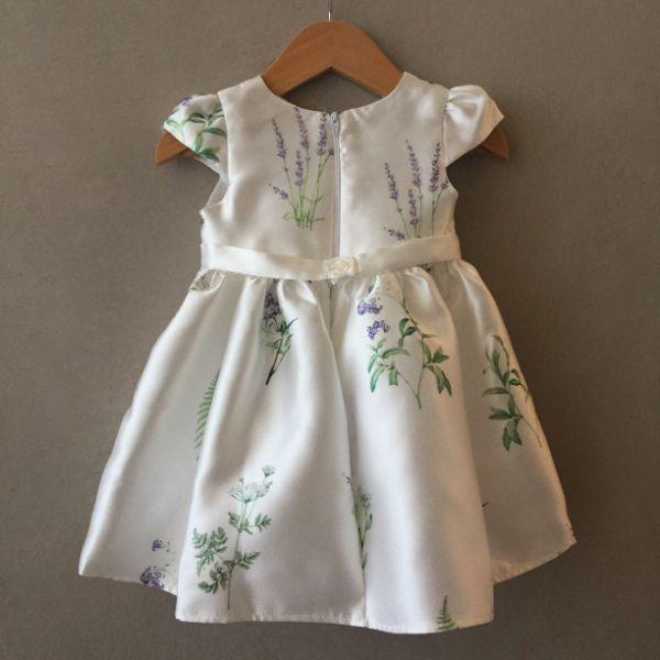 Vestido de Festa Petit Cherie Branco Floral Baby