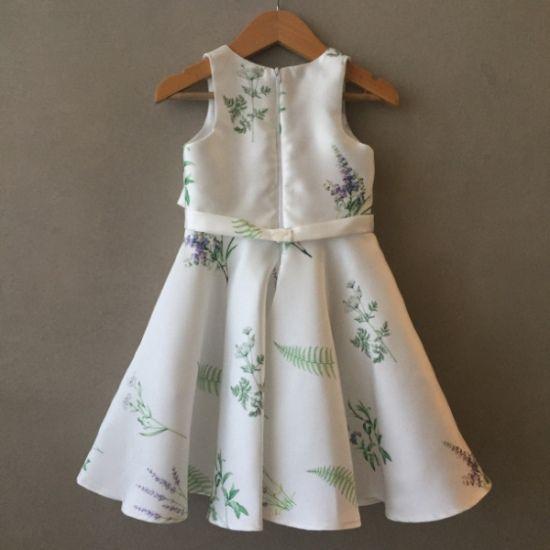 Vestido de Festa Petit Cherie Branco Floral Kids