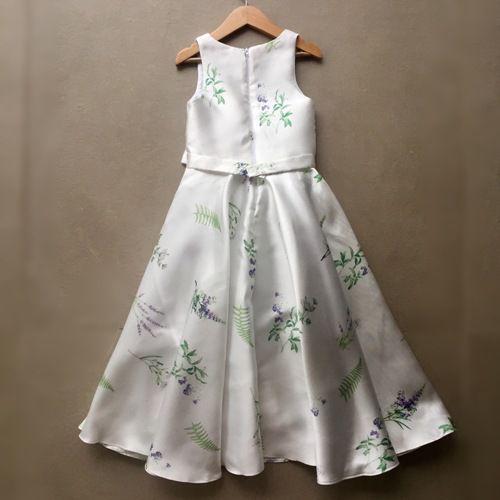 Vestido de Festa Petit Cherie Branco Floral Longo