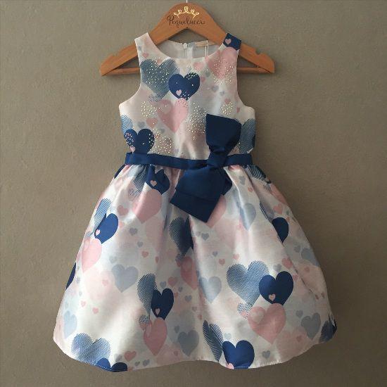 Vestido de Festa Petit Cherie Corações