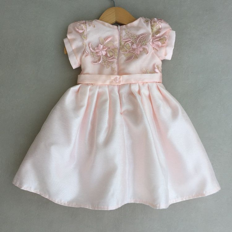 Vestido De Festa Infantil Petit Cherie Em Cetim Canelado Rosa
