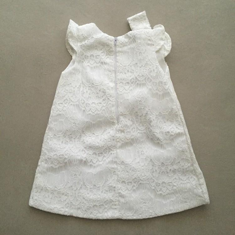Vestido de Festa Petit Cherie em Tafetá com Sobreposição de Renda
