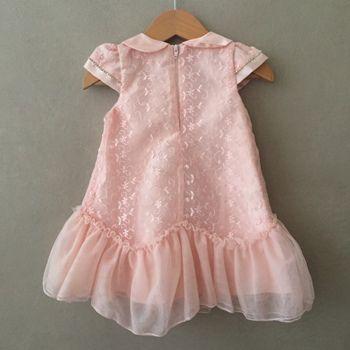 Vestido de Festa Petit Cherie Luxo Rosê Baby