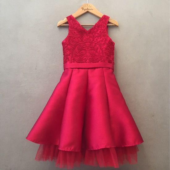 Vestido de Festa Petit Cherie Luxo Vermelho