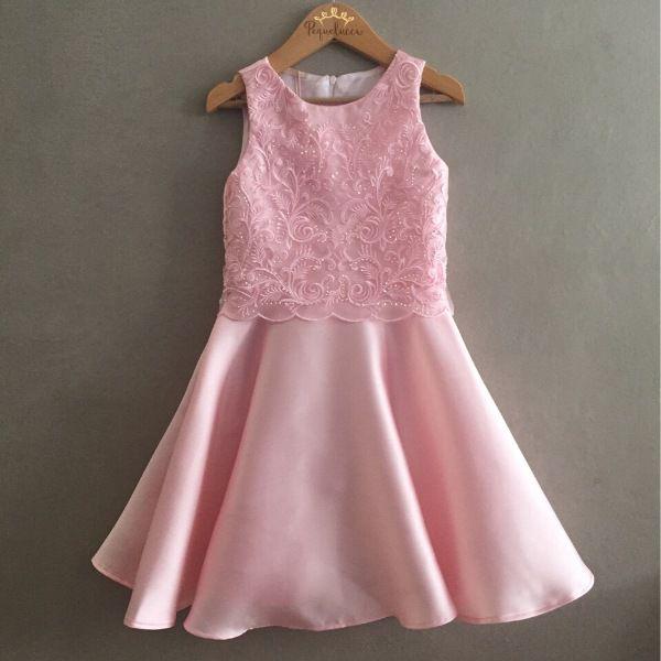 Vestido de Festa Petit Cherie Rosa