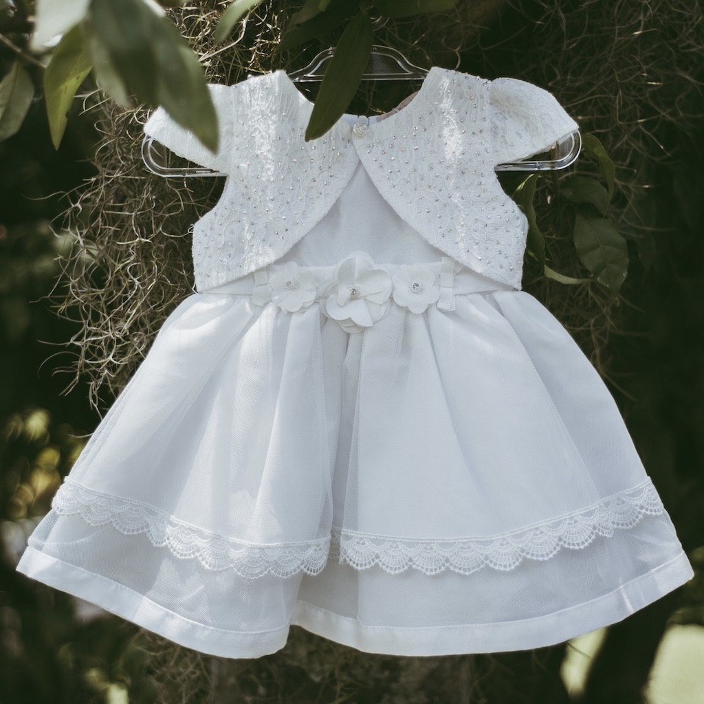 Vestido Infantil De Batizado Petit Cherie Super Luxo
