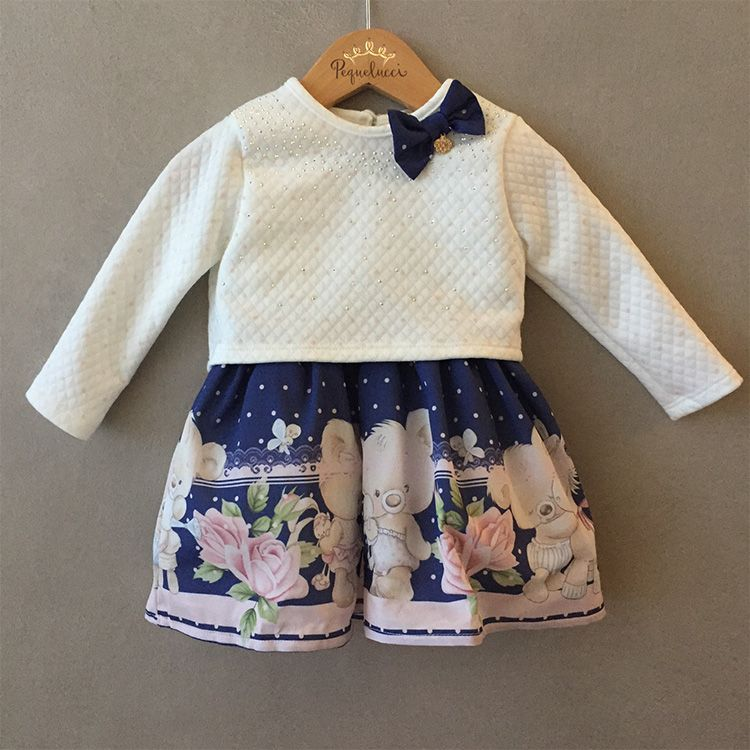Vestido Infantil de Festa Sweet Little Bear Petit Cherie