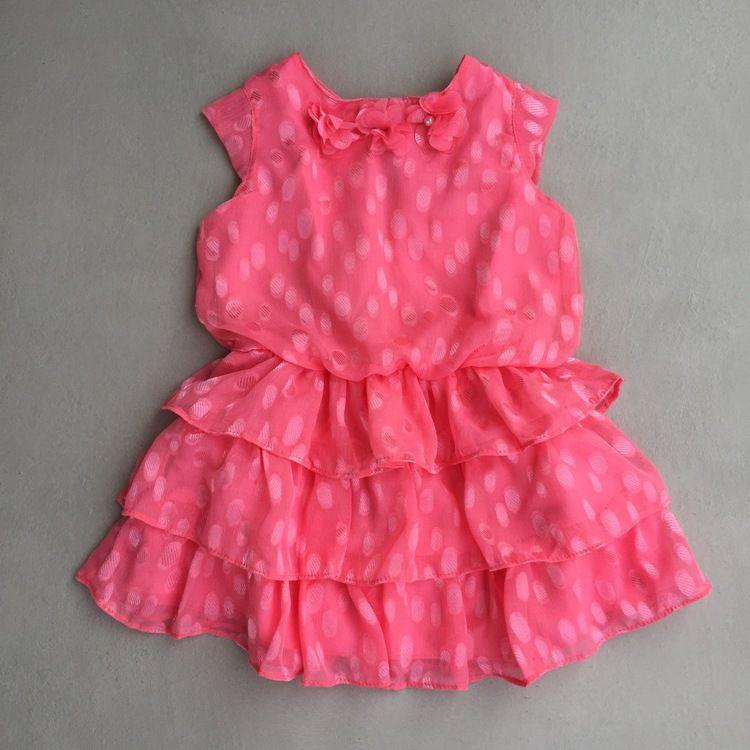 Vestido Infantil Em Seda Coral Infanti