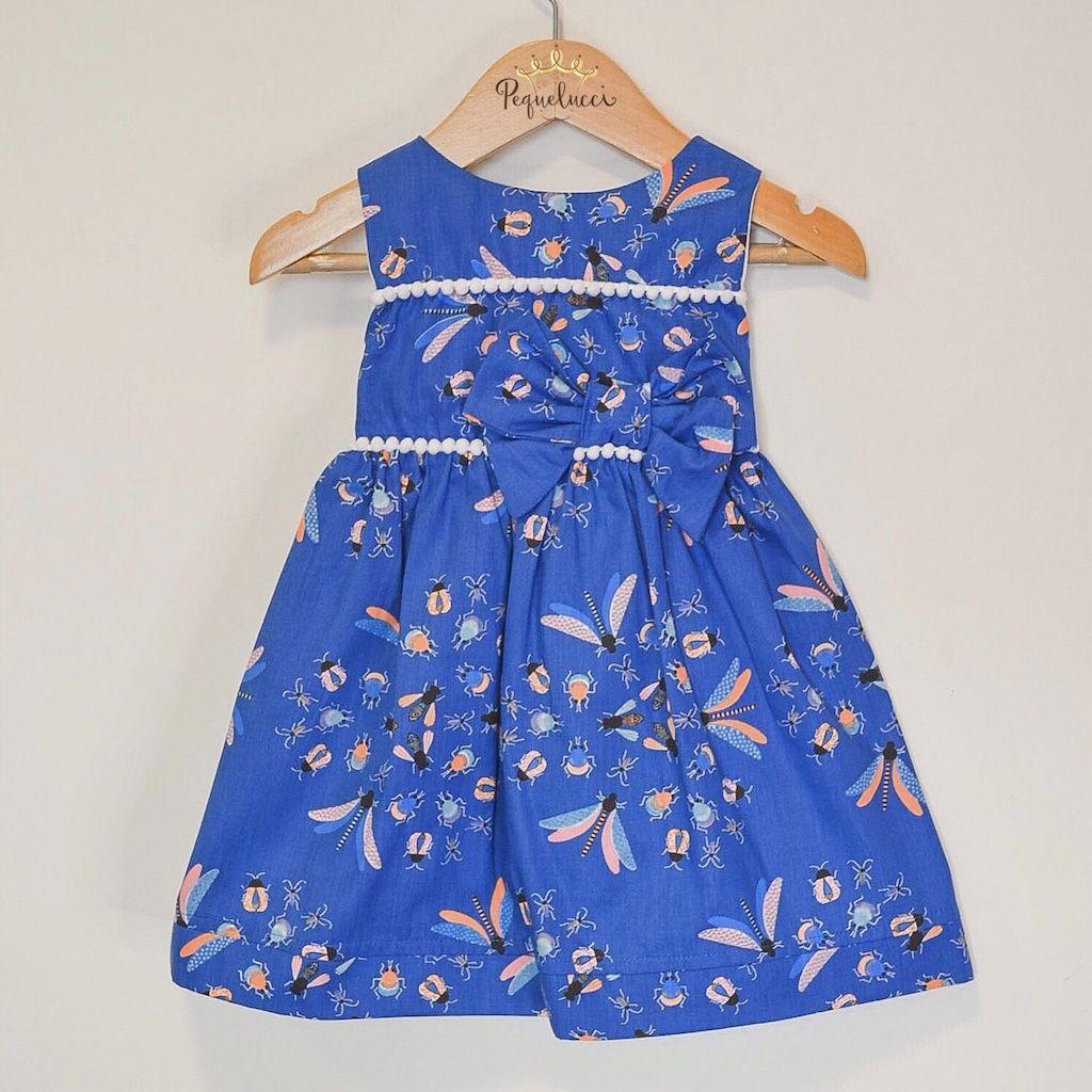 Vestido Infantil Insetos