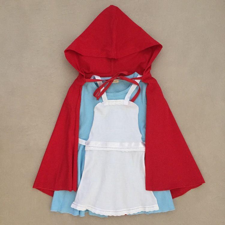 Vestido Infantil Menina Da Capa Vermelha