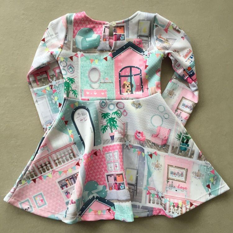 Vestido Infantil Mon Sucré Casinha De Bonecas