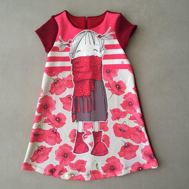 Vestido Infantil Ninali Menina Cachecol Vermelho
