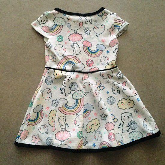 Vestido Le Petit Kukiê Rainbow