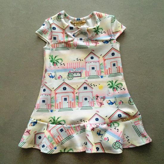 Vestido Le Petit Kukiê Casa de Praia com Faixinha
