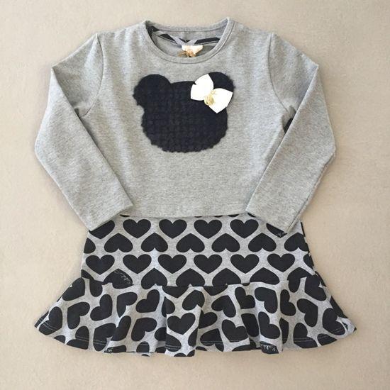 Vestido Le Petit Kukiê Corações com Bolero Ursinho