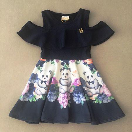 Vestido Le Petit Kukiê Lovely Pandas