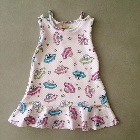 Vestido Le Petit Kukiê Nave Espacial