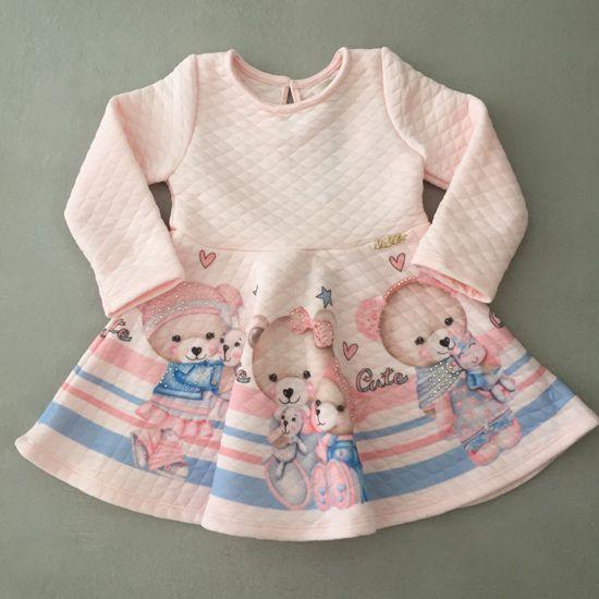 Vestido Le Petit Kukiê  Ursinhos com Polainas