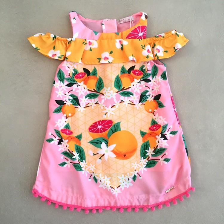 Vestido Infantil Mon Sucré Ciganinha