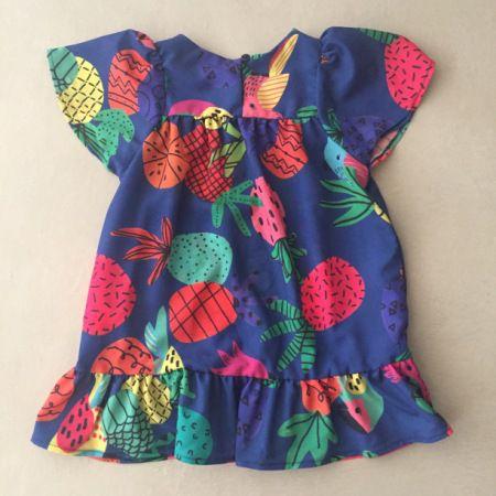 Vestido Mon Sucré Tropical Azul Marinho